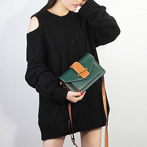 femme à Sac cuir Sac LF Sac épaule portés en fashion 186 Valin bandoulière Vert main R8atwRq