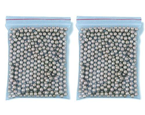 Outletdelocio. Pack 2 bolsas de 500 Bolas metálicas acero BB Golden Ball 4, 5 mm 0, 37 g (Total 1000 bolas)
