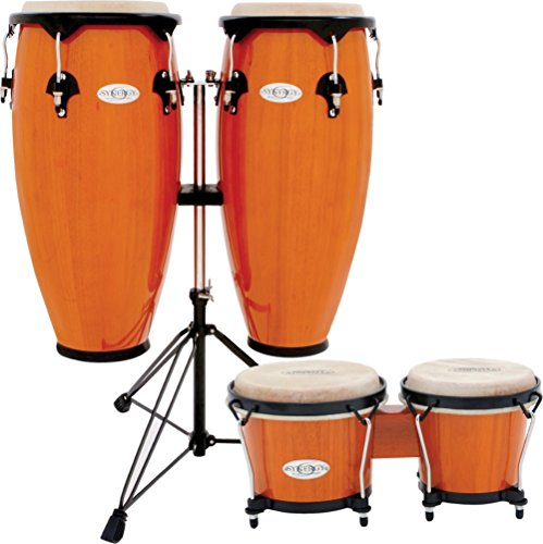 toca synergy conga set with stand and bongos amber amber percussion buy online free. Black Bedroom Furniture Sets. Home Design Ideas