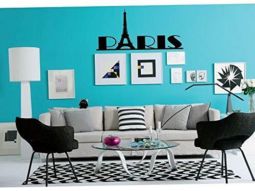 Waldenn Paris Girls Wall Decal Sticker Quote DIY Vinyl Home Decor Words Letters | Model DCR - 1461