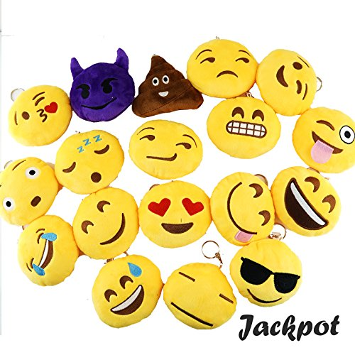 SpeedMotion Stuffed Pillow Cushion Emoji Poop Shaped Smiley Face Doll Toy (12 Pieces of - Shaped Face