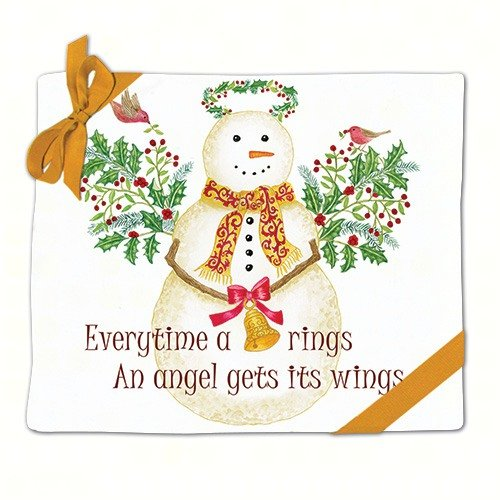 (Snow Angel Snowman Holiday Flour Sack Kitchen Dish Towels Set of 2 Cotton by Alice's)