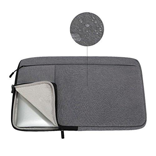 iCozzier 11.6-12.5 Inch Handle Strap Laptop Sleeve Case Bag Protective Bag for Macbook Air/Macbook Pro / Pro Retina Sleeve - Dark Gray Photo #5