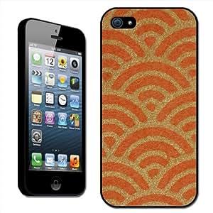 Fancy a Snuggle - Carcasa rígida para Apple iPhone 5, diseño de arte japonés, color naranja