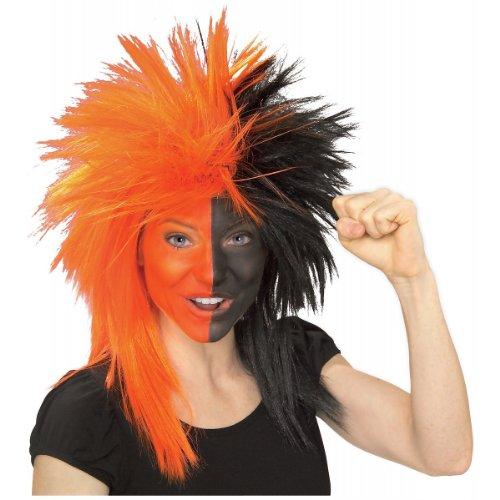 Rubie's Costume Orange and Black Sports Fan Wig, Orange/Black, One Size - Football Related Costumes
