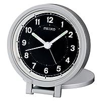 Seiko QHT011 Alarm Clock - Silver Tone f...