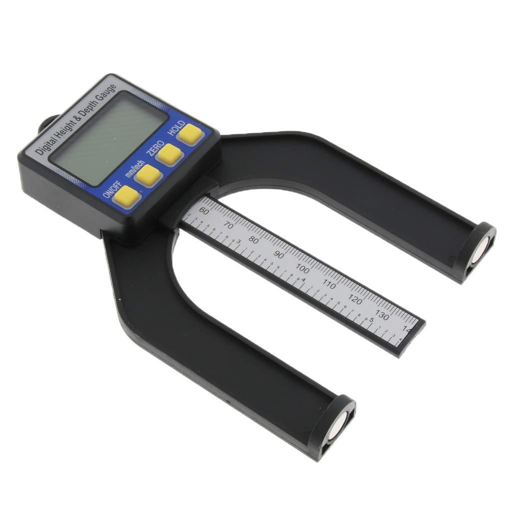 B Blesiya Digital Height Gauge 80mm Depth Inches or Millimeters Display