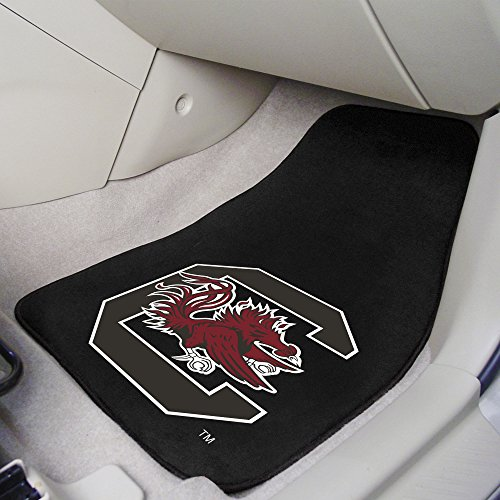 FANMATS NCAA University of South Carolina Gamecocks Nylon Face Carpet Car Mat
