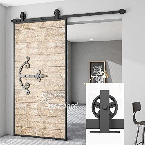 6.6ft Heavy Duty Sturdy Sliding Barn Door Hardware Kit - Super Smoothly and Quietly - Simple and Easy to Install - Fit 36