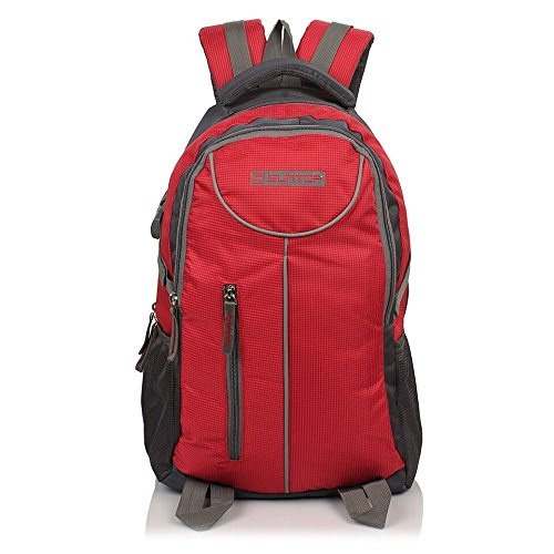 Suntop Neo 7 26 L Medium Sized Casual Backpack Bag with Laptop Padding(Grey & Red Checks)