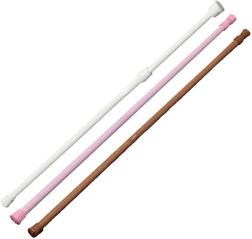 topxingch Tension Rod Telescopic Extendable Window Curtain Shower Rods Hanger Closet Hanging Pole White 15.75-29.53