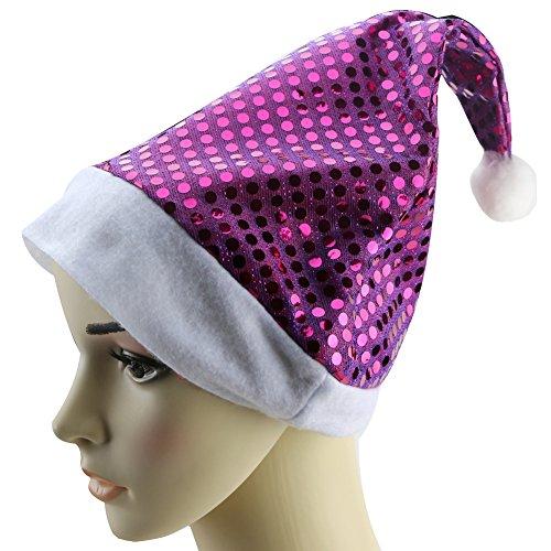 Kangnice® Adult Unisex Party Costumes Christmas Xmas Santa Claus Hat Cap (Purple) (Santa Claus Cap)