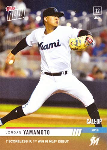 2019 Topps Now Baseball #366 Jordan Yamamoto Pre-Rookie Card - Wins Major League Debut - Only 534 made!