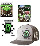 Minecraft Creeper Inside Premium Snap Back Hat & 9 Stickers Gift SET