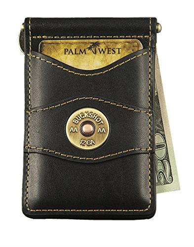 Palm West Leather Best Premium Money Clip Holder and Wallet with RFID Blocking Technology