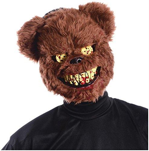 Brown Scary Teddy Bear Mask -