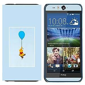 TECHCASE---Cubierta de la caja de protección para la piel dura ** HTC Desire Eye ( M910x ) ** --oso lindo dibujo personaje de dibujos animados