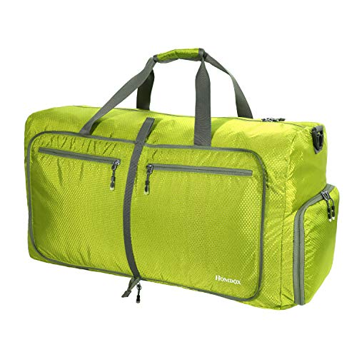Homdox Large Duffle Bag for Camping Waterproof Lightweight Folding Luggage Bag,Gym Bag for Men Women(Light Green) - Folding Clasp Tag