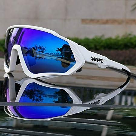 Weizy Gafas de Sol Polarizadas for Ciclismo MTB, Gafas for Ciclismo, Gafas de Bicicleta for Montaña, Gafas for Ciclismo for Hombre/Mujer (Color : 07, Color de Las Lentes : 5 Lens): Amazon.es: Hogar