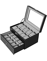Amazoncom Faux Leather Jewelry Boxes Jewelry Boxes