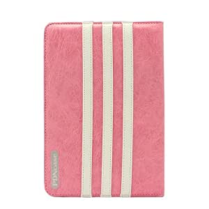 Pdncase Premium Leather Carrying Case Folio Type Compatible for iPad Air(Pink)