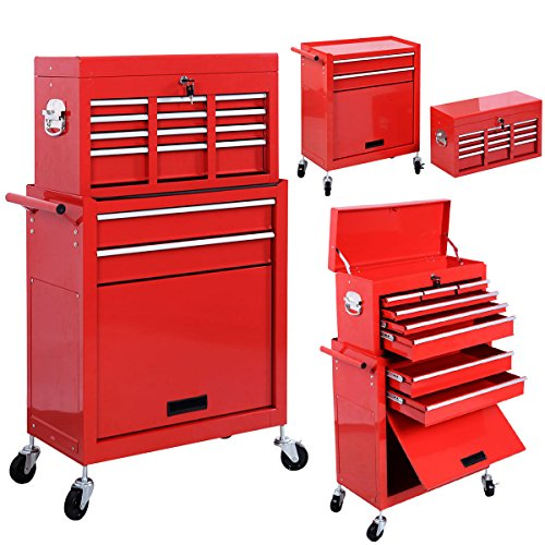 Rolling Tool Storage Chest Box Cabinet Organizer Sliding Drawers Garage Mechanic Steel Toolbox Removable - Nz Layaway