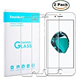 [2 Pack] Innker iPhone 7 4.7 Inch Screen Protector, [Tempered Glass] 0.2mm Ballistic Glass Maximum Impact Protection 99.99% Crystal Clear HD Glass for iPhone 7 [Lifetime Warranty]