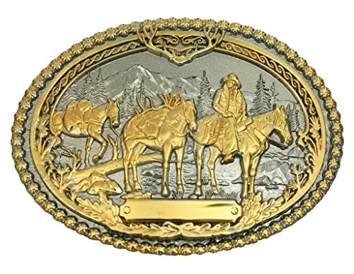 Montana Silversmith Pack Horses and Rider Two Tone Attitude Belt Buckle - ()