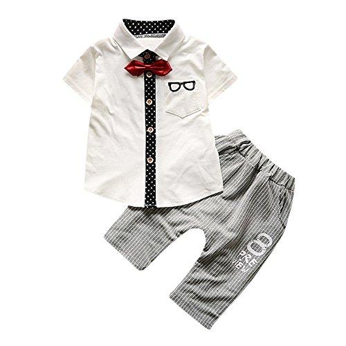 DIGOOD Toddler Newborn Baby Girls Boys Xmas Clothes,Christmas Letter T-Shirt Tops+Plaid Pants 2Pcs Outfits Sets
