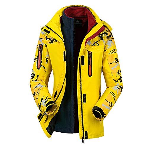 (Moserian Women's Winter Two Piece Set Camouflage Waterproof Windproof Sport Coat)