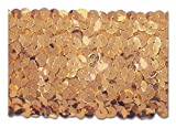 Gold 2 Inch Stretch Sequin - Low Price. 10 Yards