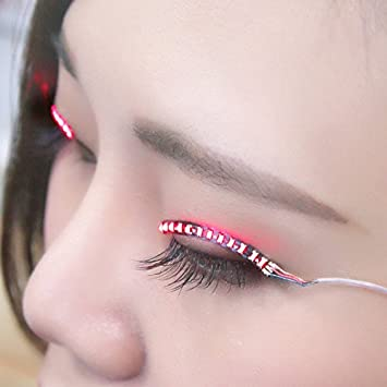 ef555ea2bbb Buy Coohole LED Eyelashes Eyelid False Eyelashes for Fashion Icon Saloon  Pub Club Bar Cosplay Halloween Party (D) Online at Low Prices in India -  Amazon.in