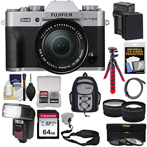 Fujifilm X-T20 Wi-Fi Digital Camera & 18-55mm XF Lens  with