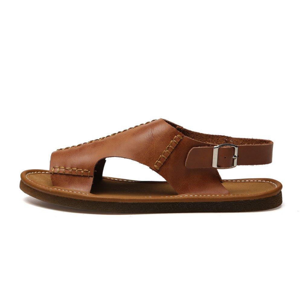 Sandalias De Los Hombres De La Playa De Verano Zapatos De Suela Suave Casual Antideslizante Zapatilla 40 EU|Brown