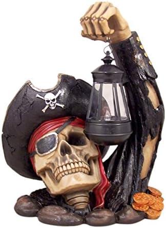 Home Originality Captain Bone's Pirate Solar Lantern Outdoor Statue Decoration