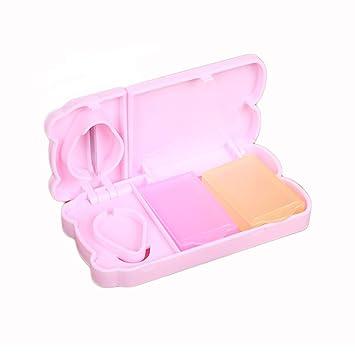 Amazon.com: Caja de Píldora cortador de plástico Mini rosa ...