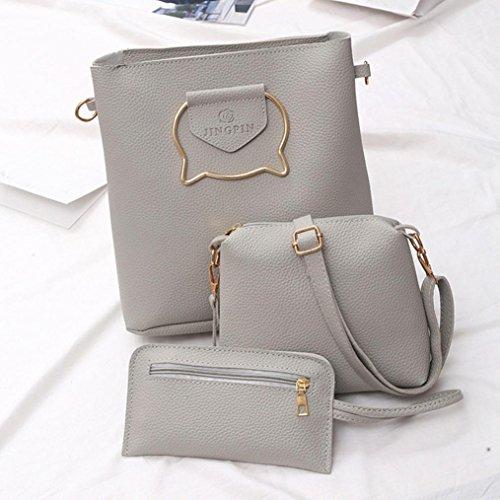 Cross Cheap by for Girl Bags Bag TOPUNDER 3PCS body Leather Set of Women Shoulder Handbag Large YgYxPA