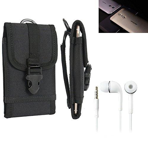 bolsa del cinturón / funda para Ulefone Gemini, negro + Auriculares | caja del teléfono cubierta protectora bolso - K-S-Trade (TM)