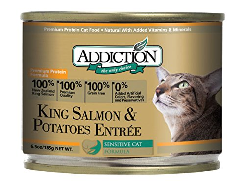 Addiction King Salmon & Potatoes Entre Grain Free Canned Cat Food, 6.5 oz. (24-pack)