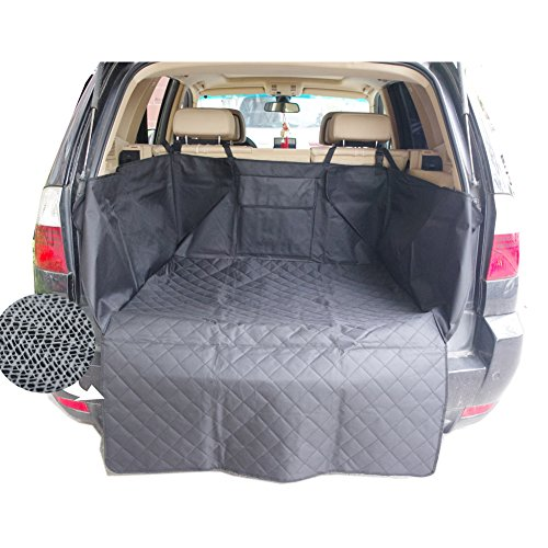 Sunshines Union Nonslip Waterproof Dog Car Cargo Cover Dog Cargo Liner Pet Car SUV Trucks Cargo Liner Seat Cover Protection Mat with Pocket 130x105cm - Suv Cargo Protection