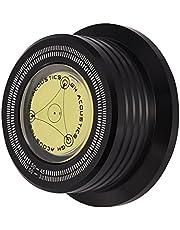 Bewinner 3 in 1 Record Clamp Record Weight Stabilizer 50Hz Turntable Disc Platenstabilisator Clamp met waterpas voor LP Vinyl platenspeler, Great Record Stabilizer for LP Record Player