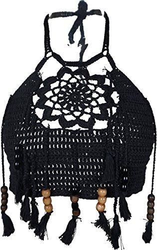 Women's Crochet Bralette Bralet Bra Floral Tassel Bandeau Bikini Bra Crop Tops