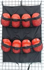 Champro Fence/Carry Bag, 8 Helmets (Black)