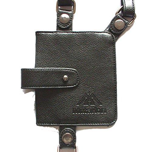 Wallet Anti-theft Hidden Underarm Holster Style Adjustable Shoulder Bag Phone Case PU Leather For Men Boys Travel Safe Pack Passport Money Carrier Black