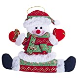 OldSch001 Christmas Ornament Santa Snowman Reindeer Toy Doll Hanging Xmas Party Decorations (Multicolor-C)
