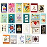 Hallmark Handmade All Occasion Boxed Greeting Card Assortment, Modern Floral (Pack of 24)—Birthday Cards, Baby Shower Cards, Wedding Cards, Sympathy Cards, Thinking of You Cards, Thank You Cards