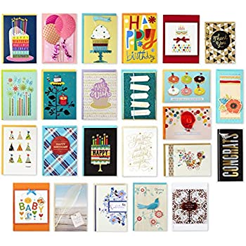Hallmark Handmade All Occasion Boxed Greeting Card Assortment Modern Floral Pack Of 24 Birthday Cards Baby Shower Wedding Sympathy