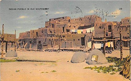 Indian Pueblo in Ole Southwest Indian Postcard