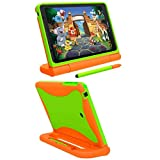 Ellipsis Kids Tablet Case, Light Weight Shock Proof Handle Friendly Convertible Stand Kids Case for Ellipsis Kids Tablet 8 inch Display Tablet (Orange/Green)