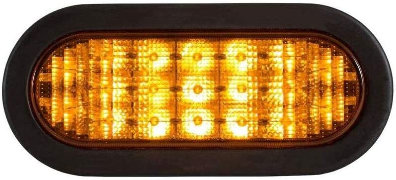 Oval 6in Amber 19 Diodes Buyers Products Company Recessed LED Warning Light Model Number SL67AO